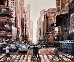 Summer in the City by Ziv Cooper -  sized 48x40 inches. Available from Whitewall Galleries